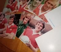 1976 -78 Randmore Platt Manchester United cards x10 Paddy Roche David McCreery Tommy Jackson etc